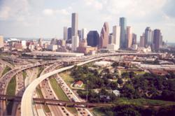 Houston Skyline from Katy Freeway