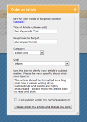 HitTail One Click Article Order Form