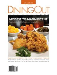 DiningOut's Summer/Fall 2012 edition features Paschal's fine southern cuisine on it's cover.