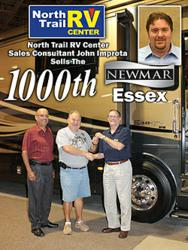 1000th Newmar Essex Motorhome sold by John Improta at North Trail RV