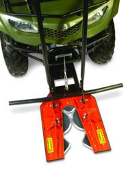 "The DR TreeChopper mounts securely to the front of most ATVs and cuts trees up to 4"" thick in seconds"