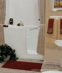 Aging safely walk in bathtubs announces new over sized for Big and tall walk in tubs