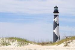 This is a Business Greeting Card with the image of the Cape Lookout Lighthouse