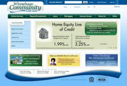 Winnebago Community Credit Union home page