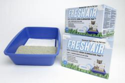 Pet Loo's Fresh Air Cat Litter comes with a Patented Odor Eliminating Pad™ and is available in two sizes: a 9-lb. box ($21.99) and 14-lb. box ($33.99).