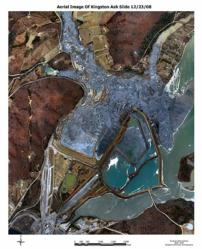 Aerial view of the TVA fly ash spill