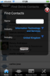 Bluefree Iphone app search contacts