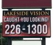 Lakeside Vision in Hawley, PA Using LED Sign Provided by Dragonfly...