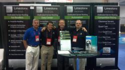 Limestone Networks works the booth at HostingCon 2012