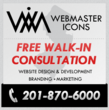New Jersey Web Design Service, Webmaster Icons, Offers Free Walk-In...