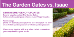 The Garden Gates emergency contact list.