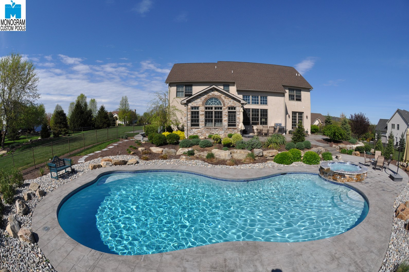 Monogram custom homes and pools selected as lehigh valley for Salt water pool