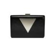 Jill Milan Holland Park Clutch in black and silver