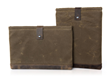 Outback Laptop Sleeve - Vertical (with Grizzly trim) and Horizontal (with Chocolate trim)