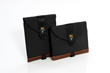 iPad Pro Ultimate SleeveCase—in vertical and horizontal with brown leather trim