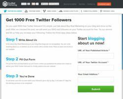 1000 Free Twitter Followers