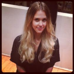 Jessica alba jumps on board the ombre hair trend pmusecretfo Image collections