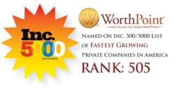 Inc. 500/5000 List Names WorthPoint