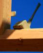 The beetle hammer, for which The Beetle Blog is named, is an essential tool at every timber frame raising.