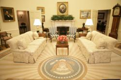 Kittinger Furniture has supplied many of the pieces in the Oval Office