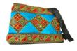 Embroidered Evening Purse In Turquoise