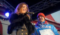 Top Russian Model Vodyanova takes part in London 2012 Paralympic Torch Relay