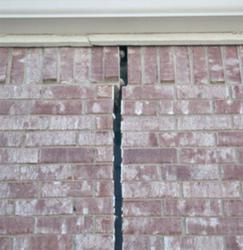 Crack In House Due To Foundation Damage