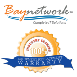 Baynetwork Industry Leading 100% Equipment Replacement Warranty
