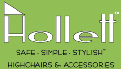 """Hollett™ prides itself in offering safe, simple, and stylish high chairs and baby products accessories which """"make the dining experience more enjoyable for everyone."""" """"Everyone"""" includes the baby or toddler."""