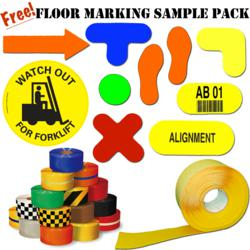 Complimentary floor marking sample