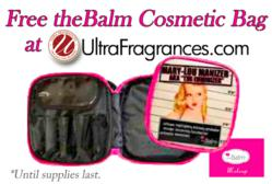 Free theBalm Cosmetic Bag at Ultra Fragrances