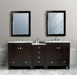 "VIrtu – Hampton 82"" Double Bathroom Vanity"