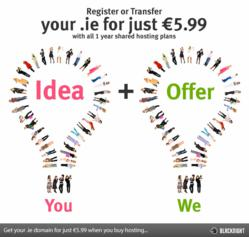 Save on .ie domains with Blacknight when you order hosting