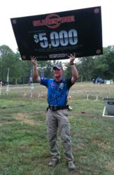 Greg Jordan celebrates his win at the 2012 ProAm 3-Gun Nation Shootoff