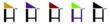 "The ""H"" represents the Dual-Mate™ highchair and the triangle above the H represents an infant carrier.  Customers will notice that the Hollett™ logo is often shown using different colors, especially for the triangle and may wonder why.  This is to symboli"