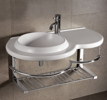 Details About Small Corner Cloakroom Sink Compact Wall Hung Bathroom