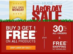Buy 3 get 1 Blinds Free + 30% off Labor Day Sale
