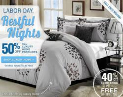 40% off + Free Shipping Labor Day Bedding Sale