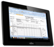 Excel spread sheets with Splashtop Remote Desktop and Fujitsu STYLISTIC M532