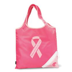 Bag Warehouse Pink Promotional Bags - Latitudes Foldaway Shopper Tote Bag