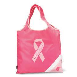 Bag Warehouse Pink Promotional Bags - Latitudes Foldaway Shopper Tote Bag
