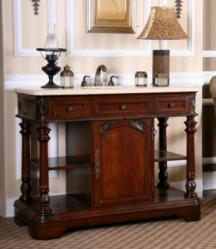 Dark Cherry Sink Chest From Legion Furniture