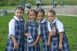 Everest students enjoy recess time with friends.