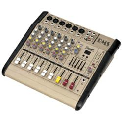 RMS 6-channel powered mixing console