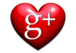 i heart google plus - by image forward