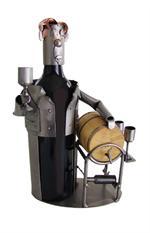 Metal Wine Caddy Bottle Holder by WorldToHome.com
