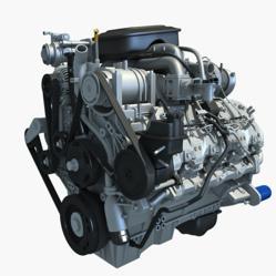 2013 Car Engines 3D Models