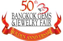 Bangkok Gems &amp; Jewelry Fair 50th Anniversary Logo