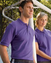 Harriton M200 Men's 6 oz. Ringspun Cotton Piqué Short-Sleeve Polo Shirt