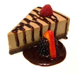 Earth Cafe's mouth-watering raw, vegan, gluten-free carob mousse cheesecake